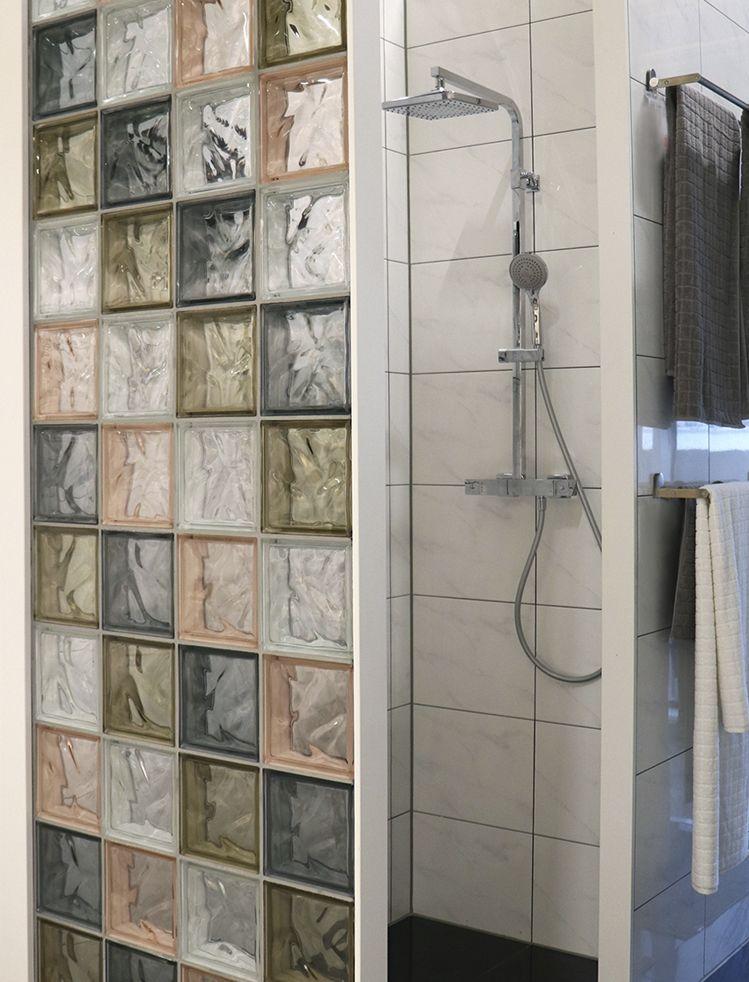Walk In Dusche Aus Glasbausteinen Ideal Furs Badezimmer